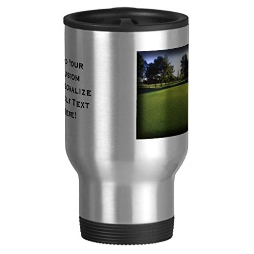 Green Golf Course At Dawn Coffee Mugs