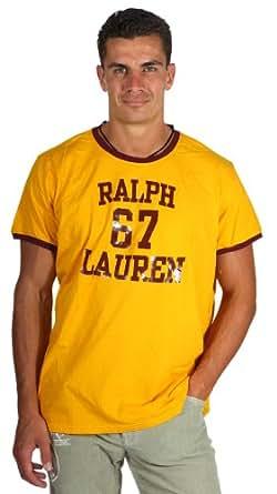 Ralph Lauren RL67 Mens T-shirt à manches courtes rouge jaune 10042101, taille:XXL