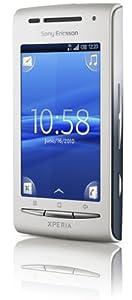 Sony Ericsson Xperia X8 Smartphone ( 3.2 MP, Android OS, aGPS, WiFi, 3.5mm Klinkenstecker) weiß/blau