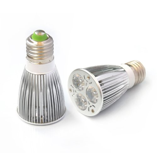 Eyourlife 2Pcs Cree Led E27 Cool White Spotlight Bulb 12W 600-750 Lumen 60 Degree Beam Angle