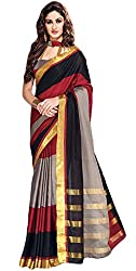 Shree Vaishnavi Woven Bollywood Silk Cotton Blend Sari(Delsey)