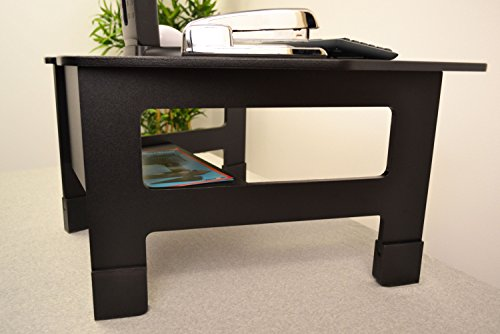 victor high rise collection dc100 standing desk with height extenders