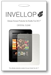 INVELLOP CRYSTAL CLEAR 3-pack Screen protectors for Kindle Fire HD 7
