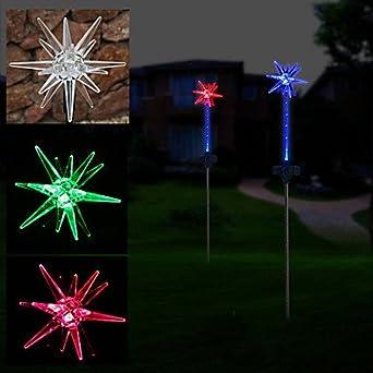 Solar star lights garden