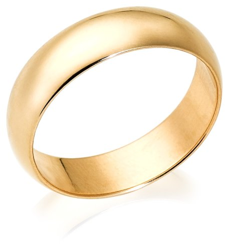 10k Yellow Gold 6mm Traditional Men's Wedding Band