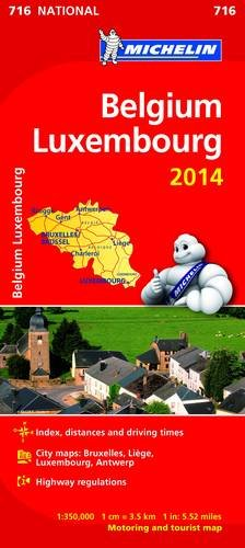 Belgium and Luxembourg 2014 National Map 716 (Michelin National Maps)