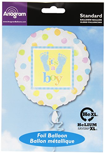 "Anagram International Baby Steps Boy Foil Balloon, 18"", Multicolor"