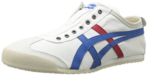 Onitsuka Tiger Mexico 66 Slip-On Classic Running Shoe, White/Tricolor, 7 M US