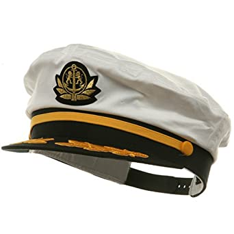 Adjustable Captain Hat-White Flagship W39S25C