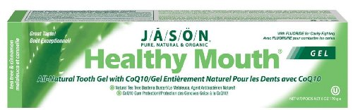 Jason Healthy Mouth Plus CoQ10 Fluoride Gel Toothpaste,