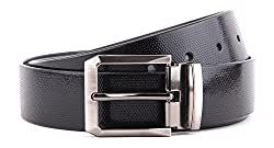WildHide Men's Leather Belt (LTBLT005--44, Black, 44)