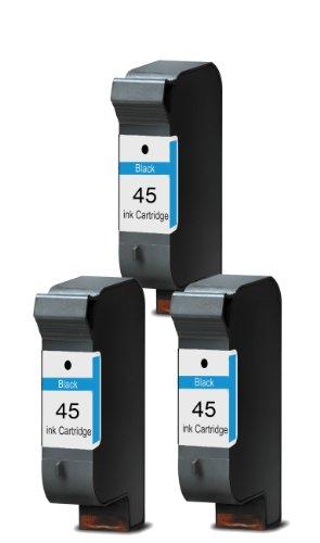 Merotoner® - 3 x Druckerpatrone für HP 45 HP Deskjet 930C 950C 959C 960C 970CXI 980CXI 990CXI 995C 1180C 1220C 1220C PS 1220CSE 1280 6120 6122 6127 9300