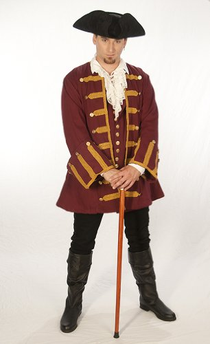 "Dress Like A Pirate ""Captain Ansell"" Frock Coat 18th Century Authentic"