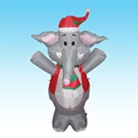 4 Foot Party Inflatable Cute Elephant - Yard Decoration