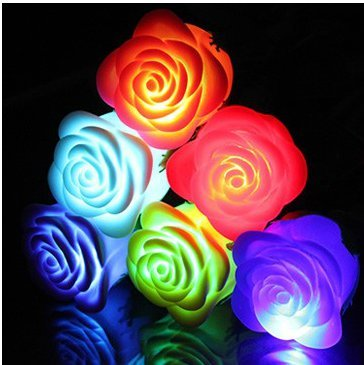 Beautiful And Romantic 7 Colour Will Never Die Rose Lamp Blue Roses