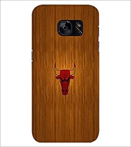 PrintDhaba Bull D-2038 Back Case Cover for SAMSUNG GALAXY S7 (Multi-Coloured)