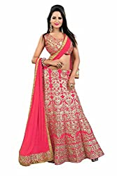 PariFashion Womens Georgette Lehenga Choli(PF3_Multi-Coloured_Free Size)