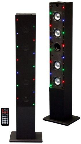 Craig Tower Speaker System With Flash Light, Fm Radio And Usb/Sd Slot, Black (Cht909C)