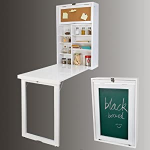 Folding Wall-mounted Drop-leaf Table, Kitchen & Dining Table Desk