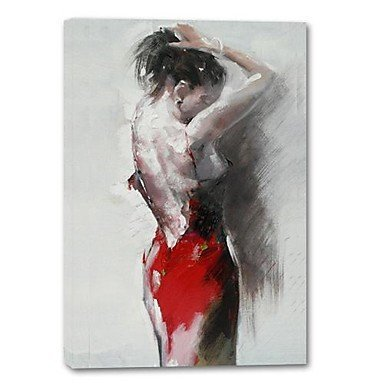 Sanbay Art Hand Painted a Semi-nudity Framed Inside Oil Paintings on Canvas Artwork for Living Room and Club Bar Wall Decoration