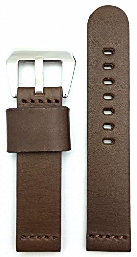 20Mm Dark Brown, Panerai Style, Smooth Leather Watch Band