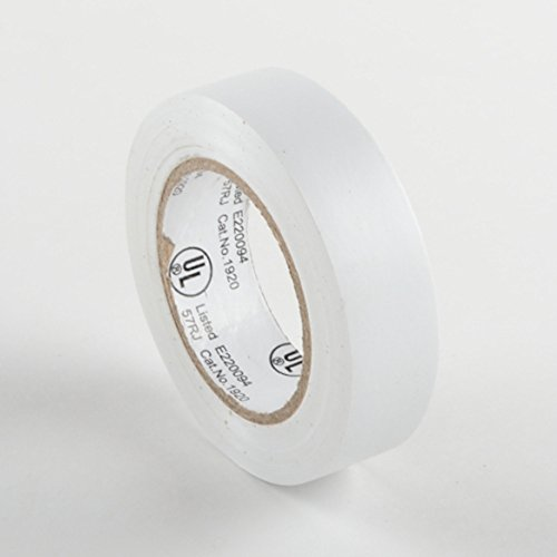 50 Rolls White Electrical Tape General Purpose Wire Color Coding Code Ate Tools
