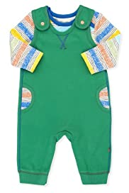 2 Piece Pure Cotton Dino Print T-Zhirt & Dungaree Outfit [T78-5566I-Z]