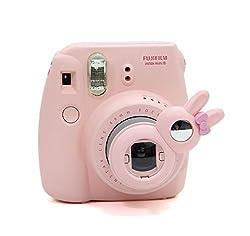 [Fujifilm Instax Mini 8 Selfie Lens] -- Lalonovo Rabbit Style Instax Close Up Lens with Self-portrait Mirror for Fujifilm Instax Mini 8 Instant Film Camera (Pink)