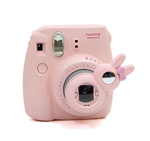 [Fujifilm Instax Mini lapinLens Set de filtres]-CAIUL pour Appareils photo de Fujifilm Instax Mini 8 7s /Polaroid 300 sac-Rose