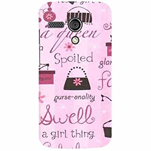 Casotec Its A Girl Thing Design 3D Printed Hard Back Case Cover for Motorola Moto G 1st Generation