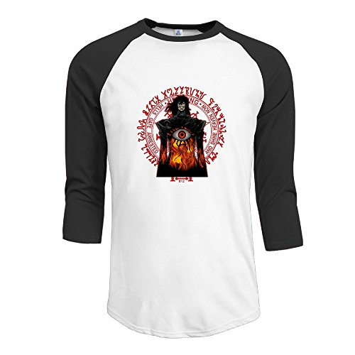 Hellsing Raglan Sleeve O-Neck Raglan Sleeve Male Raglan Teeshirt (Hellsing Gun compare prices)