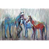 3 Horse 2 By Art Atelier Alliance Art Print On Canvas 37x24.5 Inches