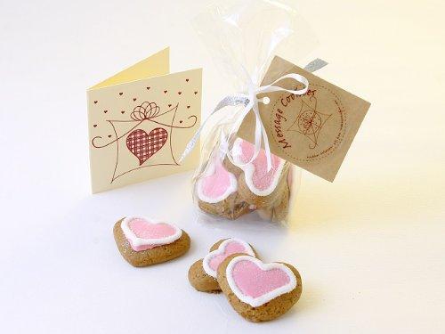 Mini Iced Love Heart Gingerbread Cookies