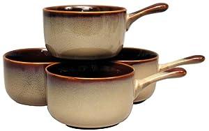 Sango Nova Brown Onion Soup Bowls, Set of 4 by Sango