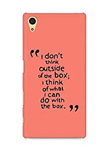 AMEZ i dont think out of the box Back Cover For Sony Xperia Z5