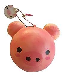Jumbo Animal Bun Bread Series Squishy - SLOW RISE & SCENTED! (Strawberry Pig Bun)