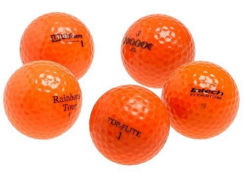 Various Brands Optic Orange Mixed Recycled Golf Balls, 48 Pack w/mesh bag