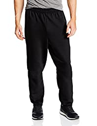Hanes Men\'s EcoSmart Fleece Sweatpant, Black, X-Large (Pack of 2)