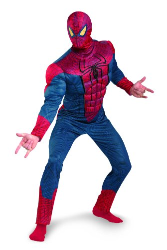 Disguise Marvel The Amazing Spider-Man 3D Movie Classic Muscle Adult Costume, Red/Blue, XX-Large/(50-52)