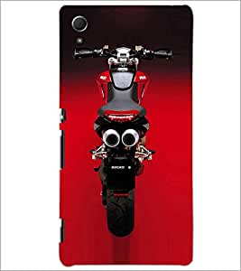 PrintDhaba Stunning Bike D-1153 Back Case Cover for SONY XPERIA Z4 (Multi-Coloured)