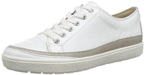 Caprice23654 - Scarpe da Ginnastica Basse Donna , Bianco (Weiß (WHITE PAT. COM 103)), 40.5