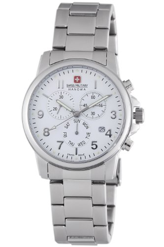 Swiss Watches:Swiss Military Hanowa Men's 06-5142-04-001 Swiss Soldier Chronograph White Dial Watch Images