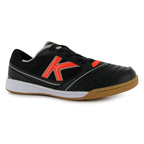 Kelme America da calcio Indoor Futsal Scarpe Nero/Arancione Calcio Sneakers, Black/Orange, (UK9) (EU44) (US10)