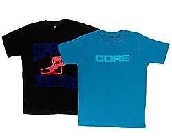 Pokizo 100% Cotton Round Neck T Shirt - Pack Of 2