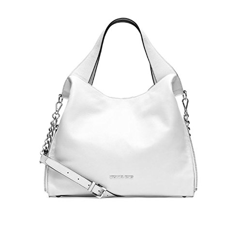 Michael Kors Devon Large Shoulder Tote In Optic White