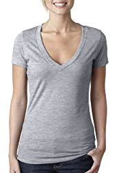Next Level 6640 Ladies The CVC Deep V-Neck