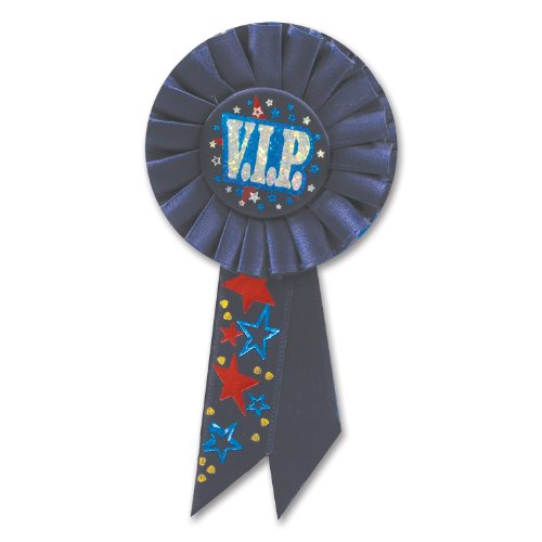 Beistle RS057 VIP Rosette, 3-1/4-Inch by 6-1/2-Inch