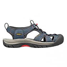 KEEN Women\'s Venice H2 Sandal,Midnight Navy/Hot Coral,8 M US