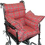 Soft Plaid Wheelchair Comfort Cushion