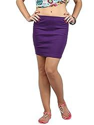 Solid Strap Mini Skirt , NG71028-Purple